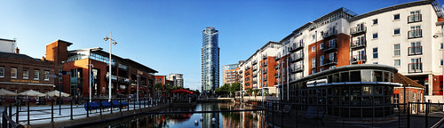 No1 Tower Gunwharf Quays Panorama   by Hexagoneye Photography