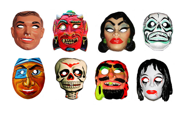 Pirates Halloween Masks Vintage 0545