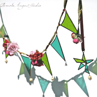 A Frida Garland - stained glass bunting | by pamela.angus