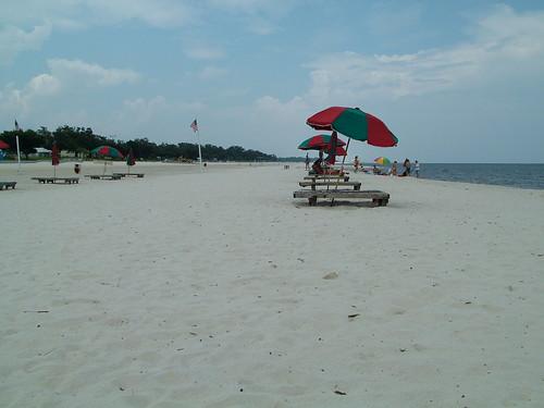 sea beach umbrella sand gulfport