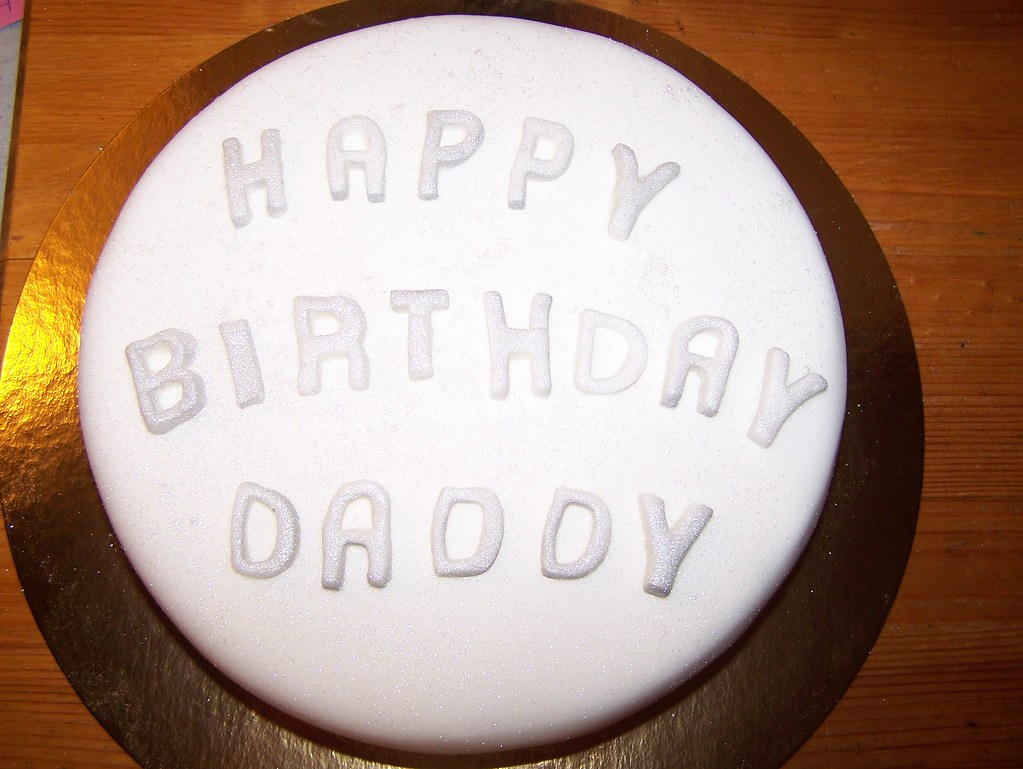 Fantastic Happy Birthday Daddy Cake Gingerbread Cake For An Adult Bi Flickr Personalised Birthday Cards Paralily Jamesorg