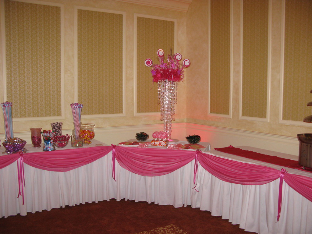 Phenomenal Pink Draping For Candy Table At A Festive Pink Themed Quin Download Free Architecture Designs Rallybritishbridgeorg