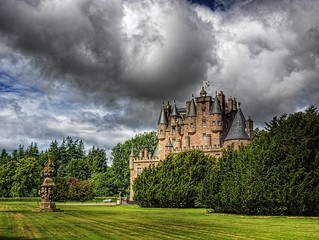 Glamis Castle and Sundial | by neilalderney123