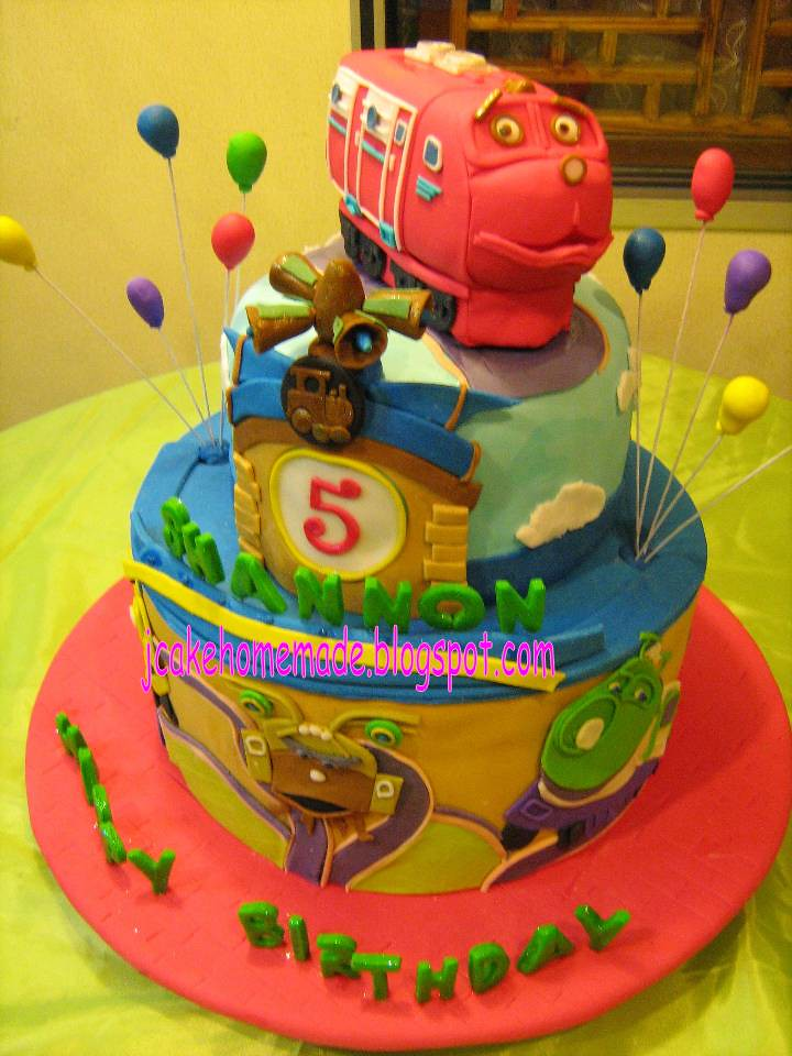 Cool Chuggington Theme Birthday Cake Happy 5 Th Birthday Shanno Flickr Funny Birthday Cards Online Overcheapnameinfo