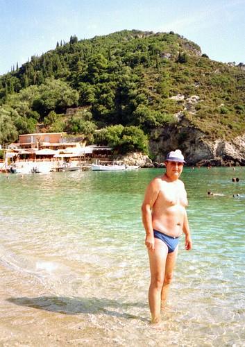 Corfu PJ at Paleocastritsa | by pj's memories