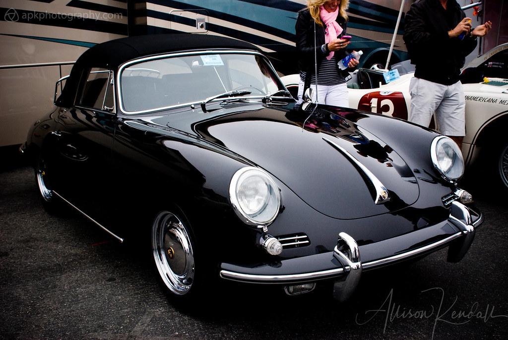 Vintage Porsche 356 Convertible Laguna Seca Paddock Flickr