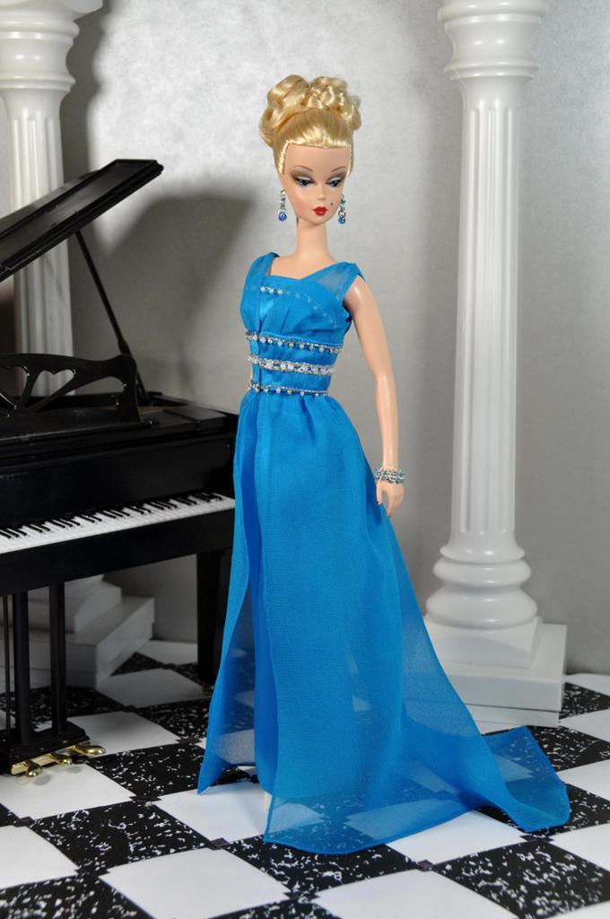 a10654f015 76-3. MAD MEN Betty Draper blue evening dress mini replica…