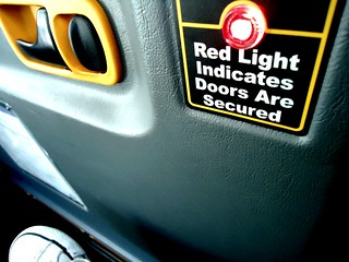 red light indicates doors are secured | by mariana ceci