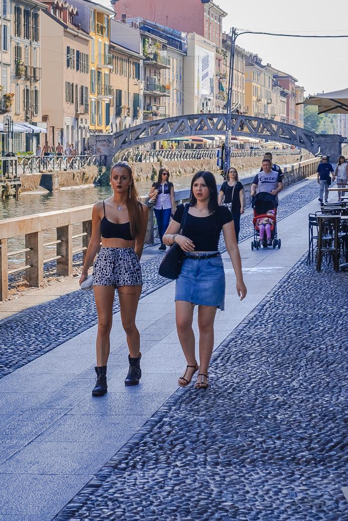 летний вечер в Милане. мостик