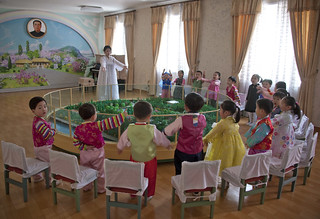 """Where was born Kim Il Sung?"" Pyongyang school North Korea 