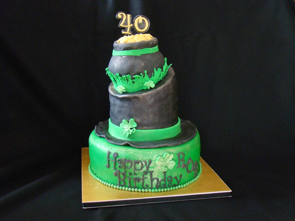 Tremendous St Patricks Day Birthday Cake Sweet Nettiecakes Flickr Funny Birthday Cards Online Necthendildamsfinfo
