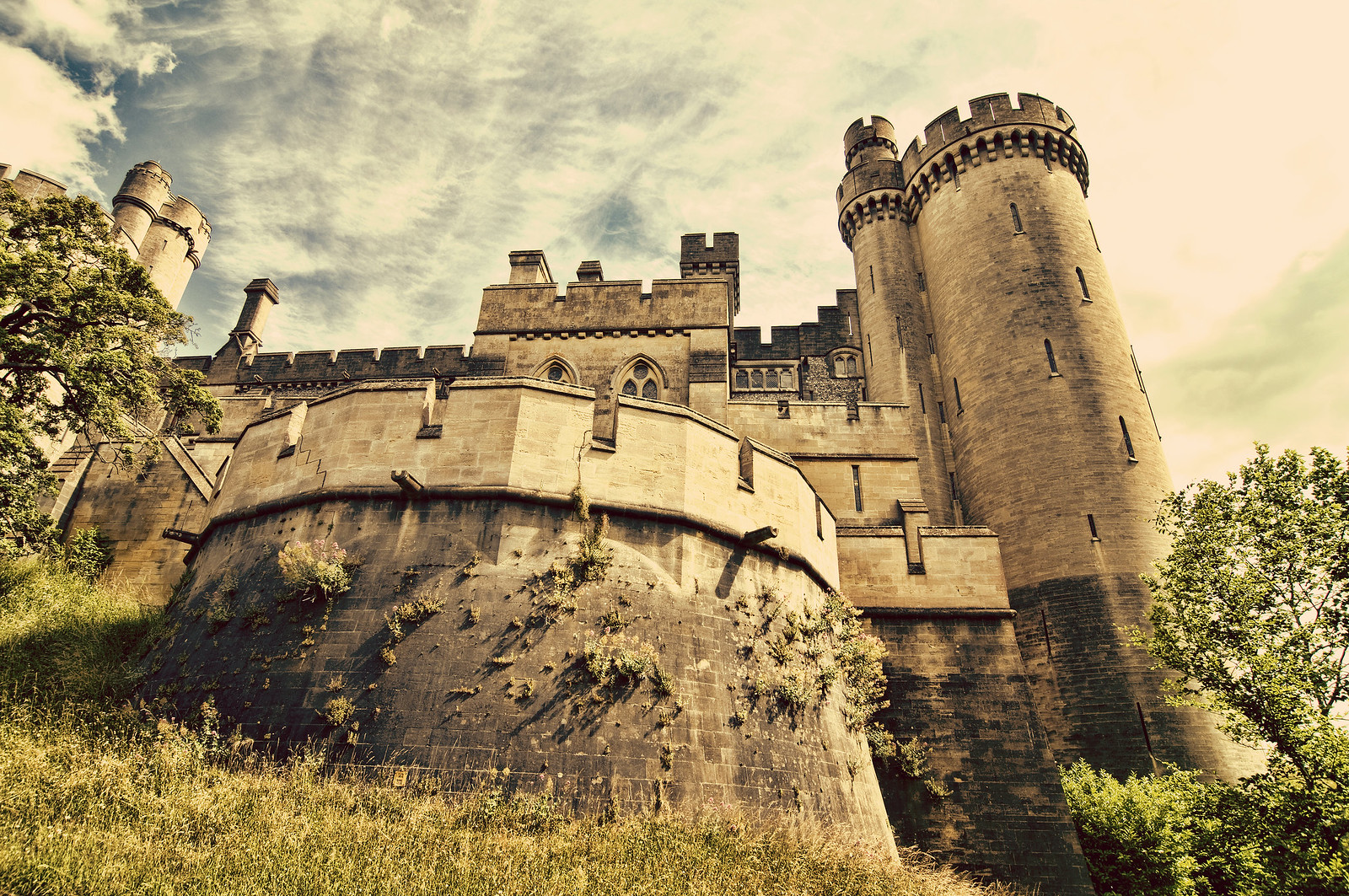 Turrets of Arundel Castle West Sussex, England