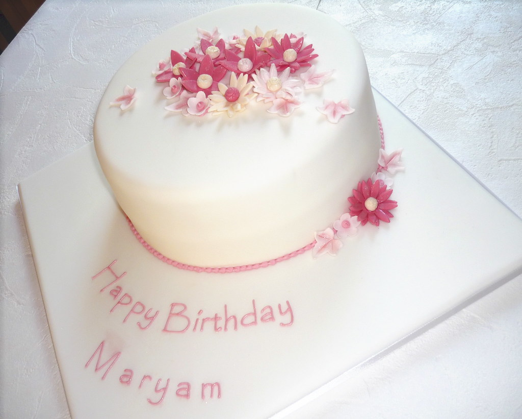 Maryam's birthday cake | This was based on the baby baptism … | Flickr