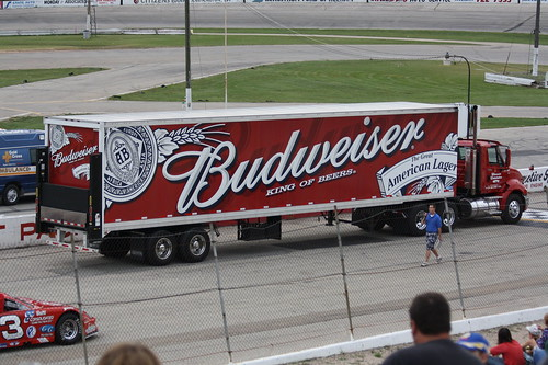 Wisconsin International Raceway 8.19.10 - the Budweiser pace truck