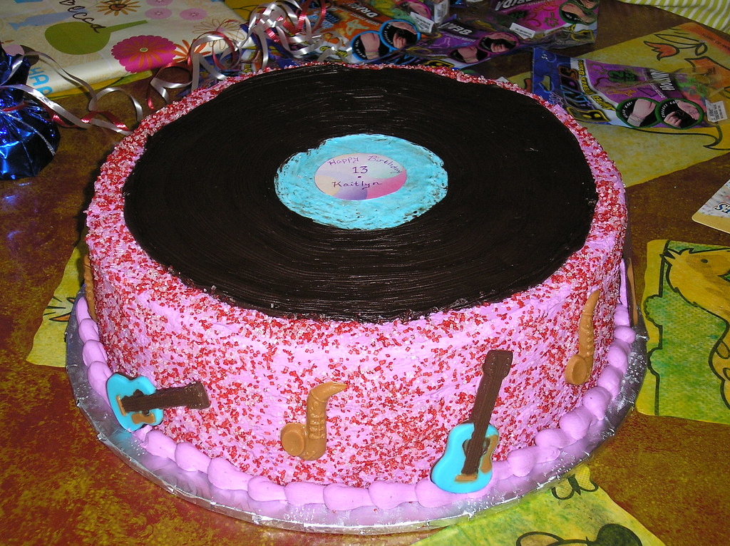 Tremendous 13Th Birthday Cake For A Musical Girl My Niece Asked Me To Flickr Funny Birthday Cards Online Kookostrdamsfinfo