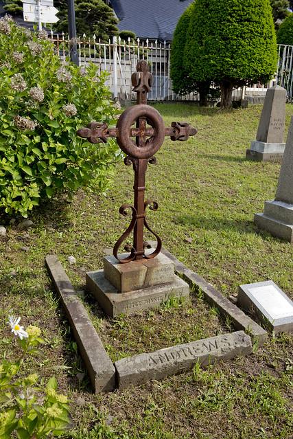 函館外国人墓地 20 Minnie Violet Andrews 1881-1882