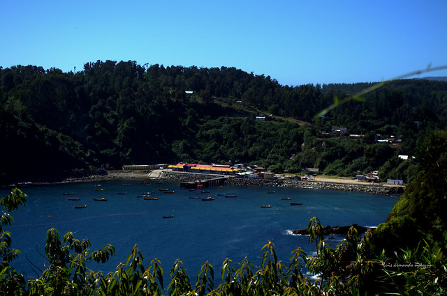 Bahia Mansa. Océano Pacifico. Chile.