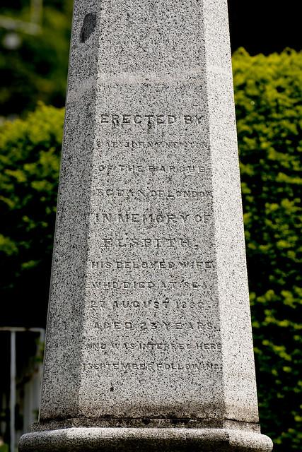 函館外国人墓地 10 Mrs Elspith Newton 1839-1862
