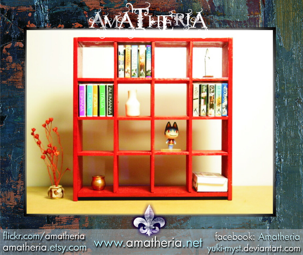 Miniature Dollhouse Ikea Inspired Expedit Bookcase Red Flickr