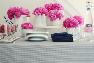 Pink Peonies-Pink & Navy Place Setting-Project Wedding Blog-Camille Styles | by camillestyles