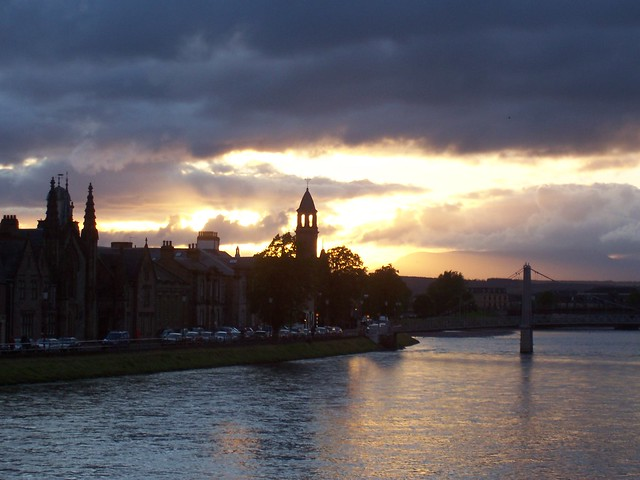 Golden Light, River Ness, Inverness, March 2007