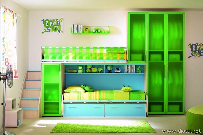 Camerette A Soppalco Verde.Sirius Cameretta Moretti Soppalco Lineare Verde Azzurro 4 Flickr