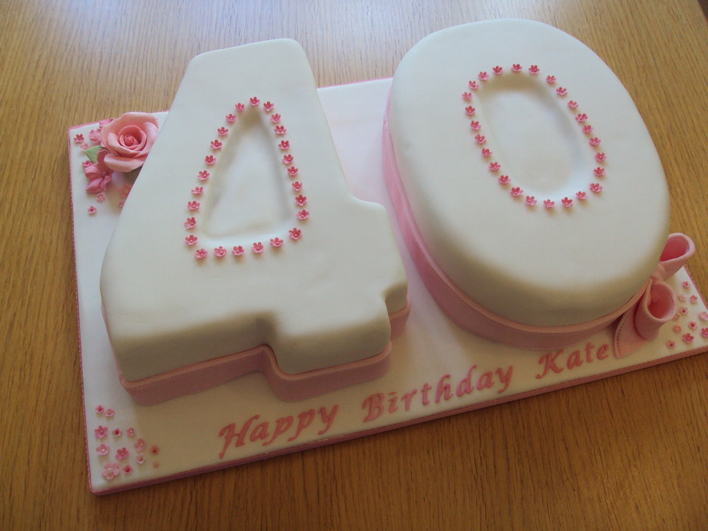Astonishing Fortieth Birthday Cake I Wanted To Make This Cake Girlie Y Flickr Funny Birthday Cards Online Sheoxdamsfinfo