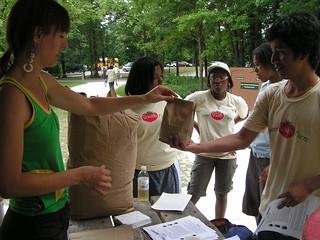 Flour Giveaway Procedure, step 6 - Green Youth Farms talk July 6