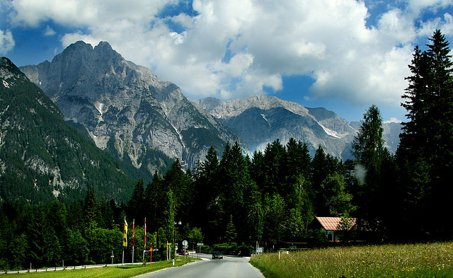 The Alps in Austria near the border to Germany