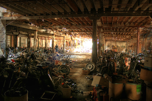Motorcycle Graveyard Wide Angle HDR | by cseward