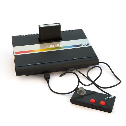 Atari 7800 with cartridge and controller | by Easterbilby