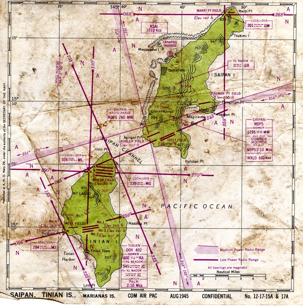Us Navy Map Of Saipan Tinian Islands August 1945 Flickr - Us-navy-map