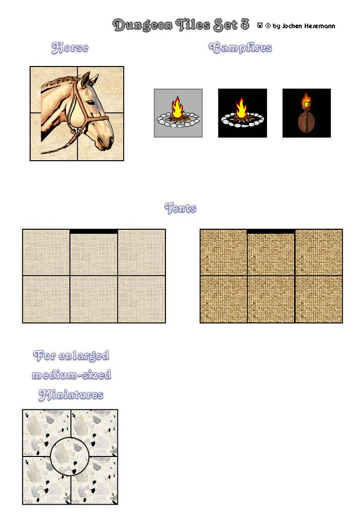 Dungeon Tiles Set 03 - Camp Routine, Tileset | Camp, tents,c