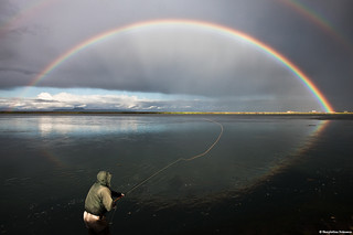 Fishing under the Rainbow   by skarpi - www.skarpi.is