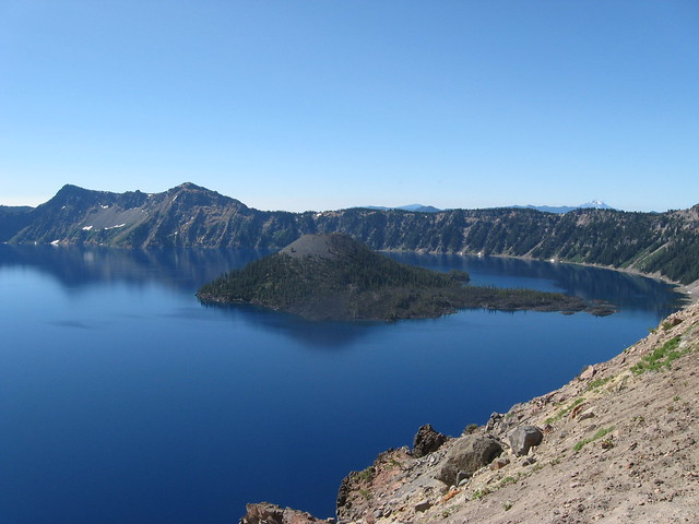 First Glimpse of Crater Lake