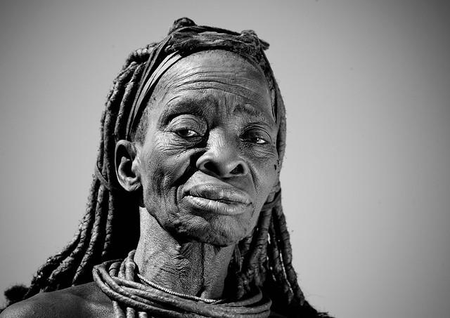 Old Himba woman, Angola