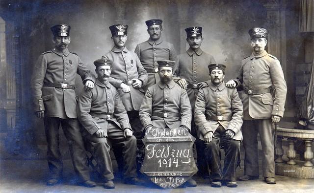 Andenken an der Feldzug 1914 Landst. Inf. Batl. Mannheim