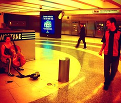 Unwoman & Sam Montgomery BART CameraBag Photo