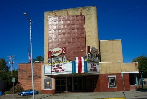 county ohio house cinema art movie marquee theater theatre urbana oh deco
