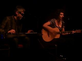 "Deborah Conway sings ""Take Pity on the Beast"", Willy Zygier on slide guitar ping @conwayzygier"