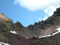 Bocca di I Mori (col des Maures) avec la descente versant Niolu