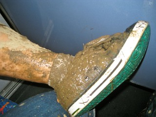 Des' foot on the bus ride home. | by jetsetwhitetrash
