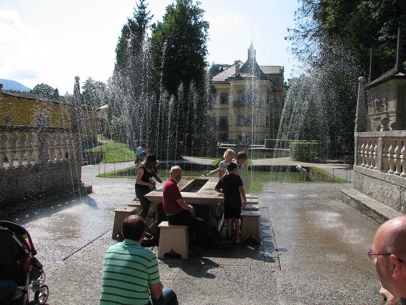 Wasserspiele (trick fountains) in Hellbrunn