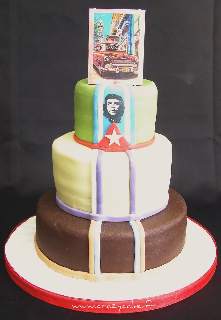 Cuban themed wedding cake