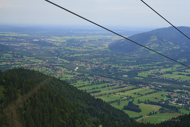 On the way up in Brauneck Bergbahn