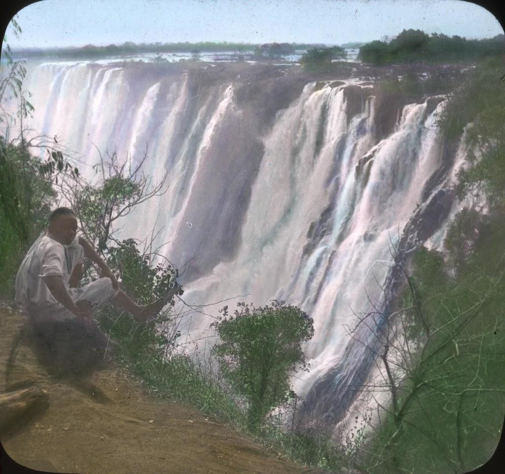 Victoria Falls On The Zambezi River Rhodesia Image