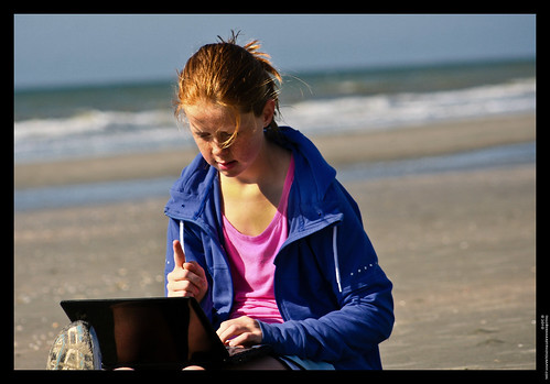 Learning and socializing on the beach | by Spree2010