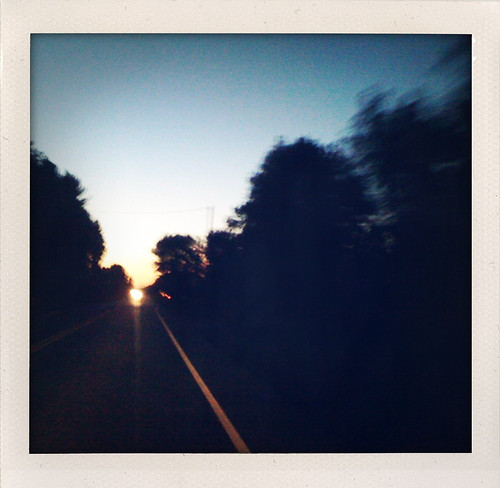 road sunset summer mobile banal