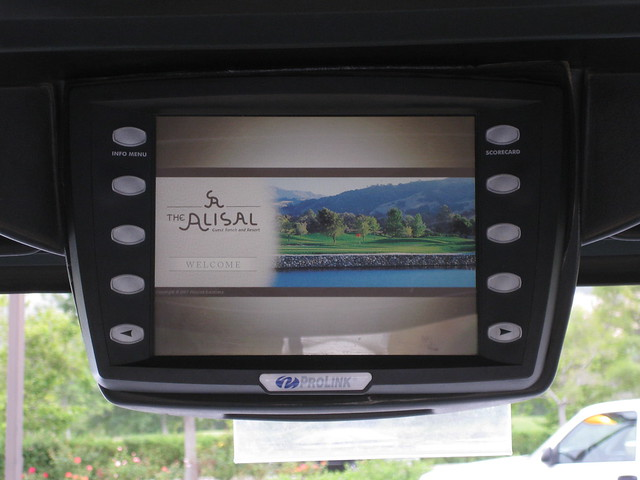 100703 Alisal river course golf cart gps screen IMG_6715