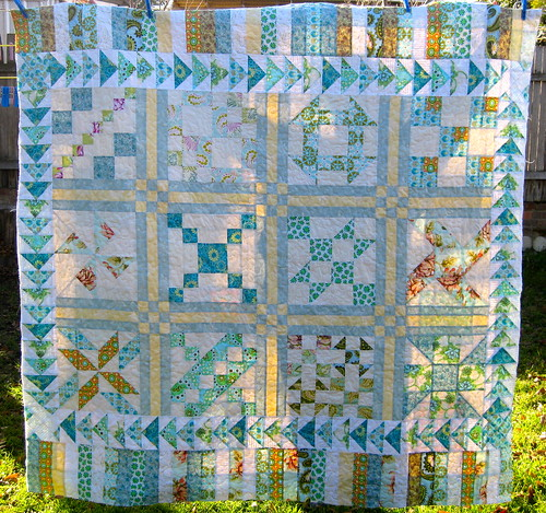 Fat quarter sampler quilt